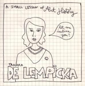 a small lesson - delempicka