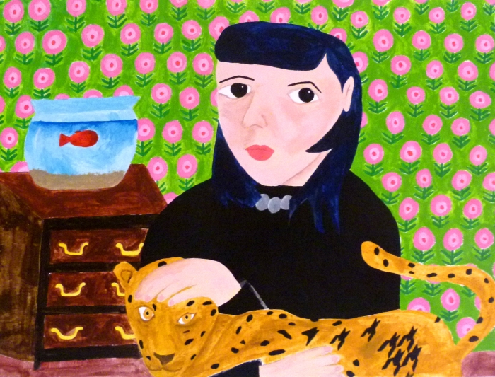 Self Portrait with Leopard