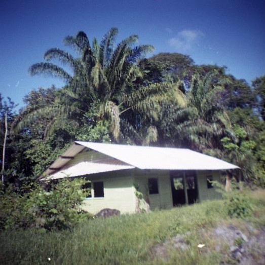 White abandoned house